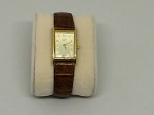 Vintage Tissot 14K Gold Tank Watch w/ 13mm Tissot Leather Band!