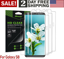 Samsung Galaxy S8 Full Coverage TPU Screen Protector Bubble Free 3 Pack