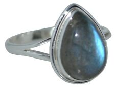 925 Sterling SILVER Real Labradorite Ring Genuine Gemstone Jewellery Size L To Z