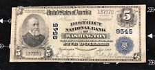 Washington DC., District national bank note 1902PB