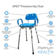 HIP CHAIR APEX(tm) Padded Bath Shower Chair w/ ADJUSTABLE  Height & Seat Angle