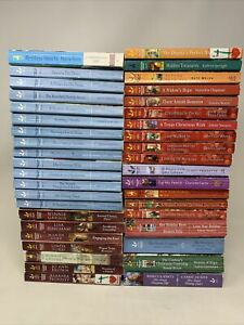 Lot of 40 Love Inspired Inspirational Historical Romance Books Mix Author/Story
