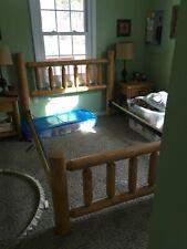 Full Size Rustic Cedar Log Bed!! Log Bed
