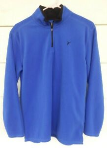 Old Navy Active Boys 18 100% Polyester Blue Long Sleeve Front Neck Zip