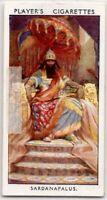 Sardanapalus Assyrian King Beaten By Persian And Babylonia 1930s Trade Ad Card