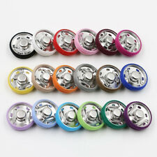 10 Sets Metal Press Cloth Button Copper Snap Fasteners Garment Accessories DIY