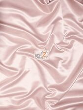 SOLID SHINY BRIDAL SATIN FABRIC - Blush - BY THE YARD DRESS DECOR SILK