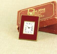 miniature Art Deco Pocket Watch traveling clock Uhr Taschenuhr Reiseuhr RAR 掛表