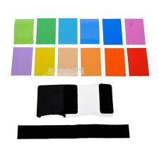 12pcs Flash Color Card Diffuser Lighting Gel Pop Up Filter for Camera Speedlite
