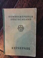 1952 German Republic Travel Pass - Real stamps from Italy, Austria, France...