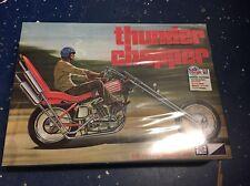 MPC835 1/8 Thunder Chopper Custom Motorcycle Plastic Model Kit slight box damage