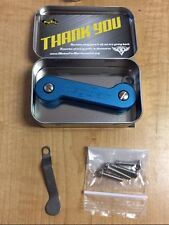 Blue KEY BAR EDC KEY HOLDER with POCKET CLIP and Case KEYBAR ARMY STOP THE NOISE