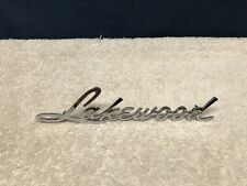 ~VINTAGE~NOS~OEM~ 1961 CHEVY CORVAIR LAKEWOOD STATION WAGON QUARTER PANEL EMBLEM