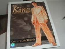 Collectible Tin Sign Elvis Presley The King of Rock & Roll-Over 110 Gold Records