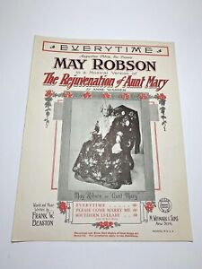 """1922 Music """"Every Time"""" from THE REJUVENATION OF AUNT MARY with MAY ROBSON"""