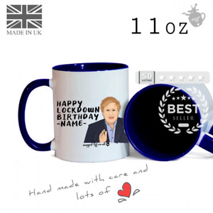 Lockdown Funny Lockdown Boris Johnson Birthday Name Personalised Birthday Mug