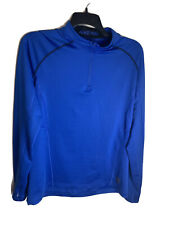 New listing Nike Pro Hyperwarm Fitted 1/4 Zip Pull Over Sweater Top Baselayer Blue 659808 XL
