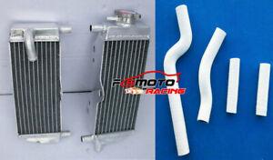 For Yamaha YZ250 YZ 250 1996-2001 97 98 99 Aluminum radiator+WHITE Silicone Hose