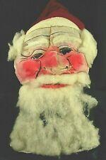 Antique Rare Santa Claus Buckram Mask - Ww I Era - Pullover for Belsnickeling