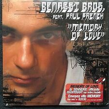 Benassi Bros. feat. Paul French ‎Maxi CD Memory Of Love - Cardboard Sleeve - F