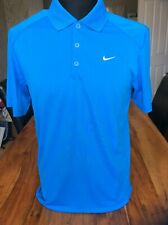 Nike Mens Golf Polo Shirt Tour Performance Dri-fit Blue Standard Fit Small