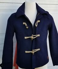 Scotch & Soda Amsterdam Mens Wool Blend Duffle Coat Jacket Size L Navy blue.