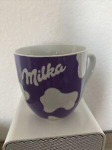 Milka Tasse Lila Weiß Kaffee Pott