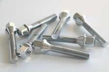 10pc Lug Bolts | 12x1.5 | 40mm Shank | Cone Conical Seat | Chrome Plated