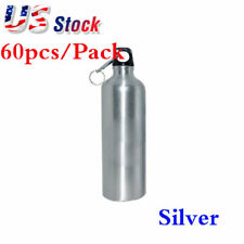 Usa 60pcs 500ml Blank Aluminum Sports Bottle For Sublimation Printing Silver