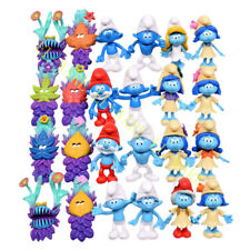 24 Pcs Smurf Clumsy The Lost Village Papa Action Figure Model Play Cake Topper