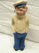 Rare Vintage Popeye the Sailor Man Paper Mache Figure Decoration Figurine Decor