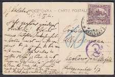 Tschechoslowakei 1920 50 c. EF auf AK Warszawa - Berlin mit Tax u. Porto St.
