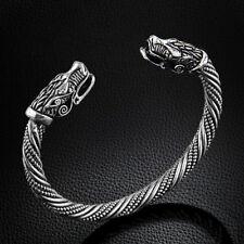 Unisex Antik Silber Drachen Armspange Wikinger Keltisch Drache Vikinger Armreif