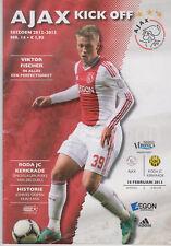Programma / Programme Ajax Amsterdam v Roda JC Kerkrade 10-02-2013