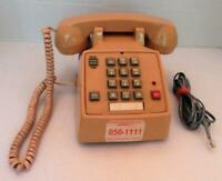 Vintage Radio Shack Beige Push Button Desk Phone WORKS Model 43-375A, Pulse/Tone