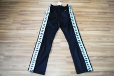 Bnwt Kappa Vintage Pants Poppers Track Full Logo Black Size L Large Retro New!