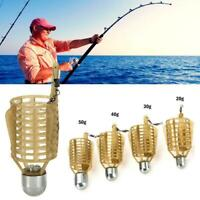 Carp Fishing Feeder Lure Cage Feeders Fishing Tackle Bait Cage C6R9