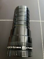 BELL & HOWELL Lens 022645 USA 3.5 to 4.5 inch f/3.5 Filmovara Manual Focus