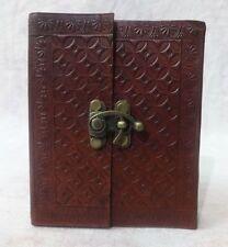 4 Vintage PU Leather Handmade Bound Blank Paper Pocket Journal Travel Mini Diary