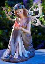 Solar Powered Fairy Garden Statue Angel Outdoor Decor Flower Patio Lawn Yard