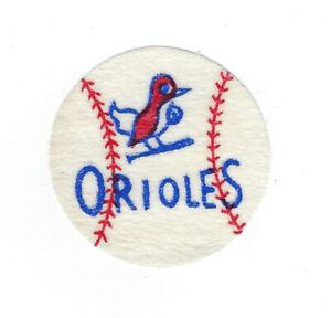 """1960's Baltimore Orioles vintage felt patch 2"""" old vintage MLB rare logo"""