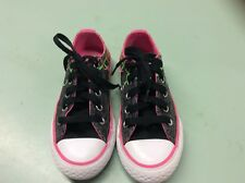 Girls Converse All Star Size 11 Low Top Sneakers Shoes Multi-Color Print Youth