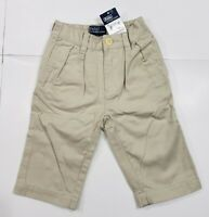 New with tag NWT Boys RALPH LAUREN Beige POLO Classic Chino Andrew Pants 12M