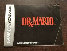 Dr Mario Manual GBA Game Boy Advance Nintendo Instruction Booklet Only