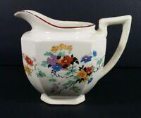 "Vintage Japanese Ceramic Flower Cream Pitcher White 3.25"""
