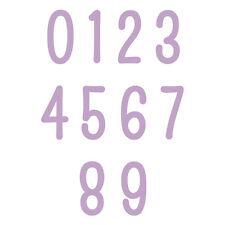 10 DOVECRAFT Stanzschablone MINI Schablonen ZAHLEN Numbers 60664
