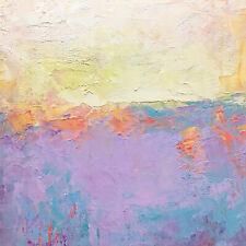 Original abstract oil painting  modern colorist color field landscape S J Studio