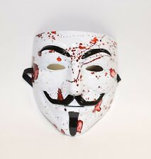 Custom HydroDipped Anonymous, V VENDETTA, Guy Fawkes Mask in Homicide Blood