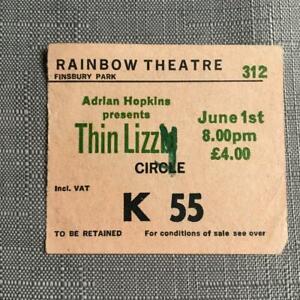Thin Lizzy Phil Lynott ticket Rainbow Theatre 01/06/80 #K55