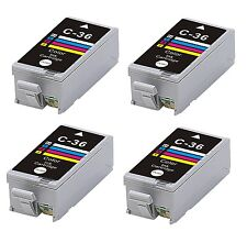 4 INK CARTRIDGE CLI-36C CLI-36 FOR CANON CLI-36 IP100 IP10 COLOR colour